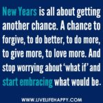 New Year Forgiveness Quote