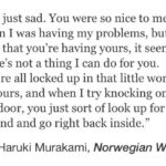 Norwegian Wood Murakami Quotes Tumblr