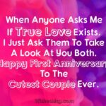 One Year Wedding Anniversary Wishes Pinterest