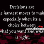 Quotes About Decisions In Relationships Facebook