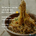 Quotes On Noodles Pinterest