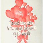 Short Birthday Wishes For Girlfriend Tumblr