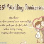 Silver Wedding Anniversary Greetings
