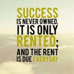 Success Is Rented Quote Twitter