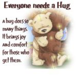 Teddy Bear Hug Quotes Pinterest
