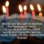 Thanks For Birthday Wishes Images Pinterest