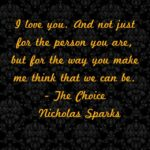 The Choice Nicholas Sparks Quotes Pinterest