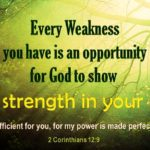 Verse Strength In Weakness Twitter