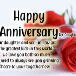Wedding Anniversary Wishes To Daughter And Son In Law Pinterest